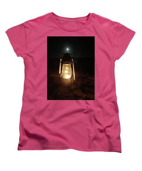 Kerosine Lantern In The Moonlight Women's T-Shirt (Standard Fit)