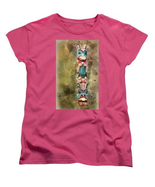 Ketchikan Alaska Totem Pole Women's T-Shirt (Standard Cut)