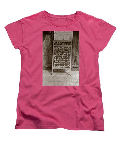 Key West Depression Era Restaurant Specials Women's T-Shirt (Standard Cut) by John Stephens