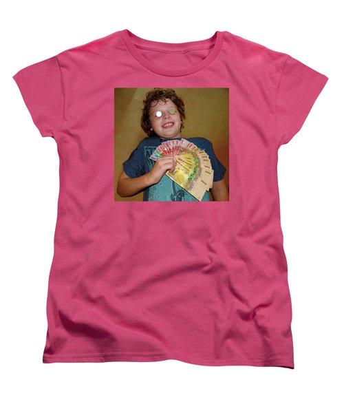 Kid With Money Women's T-Shirt (Standard Cut) by Exploramum Exploramum
