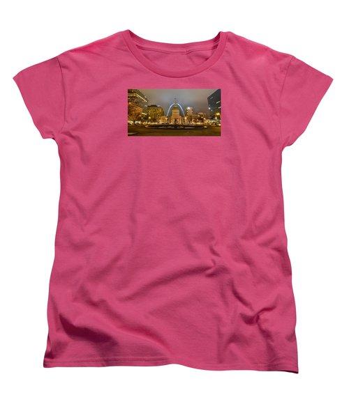 Kiener Plaza And The Gateway Arch Women's T-Shirt (Standard Cut) by Matthew Chapman