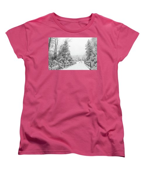 Women's T-Shirt (Standard Cut) featuring the photograph Kindness Is Like Snow by Lori Deiter