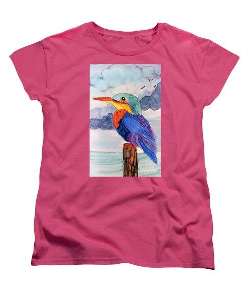 Kingfisher On Post Women's T-Shirt (Standard Cut)