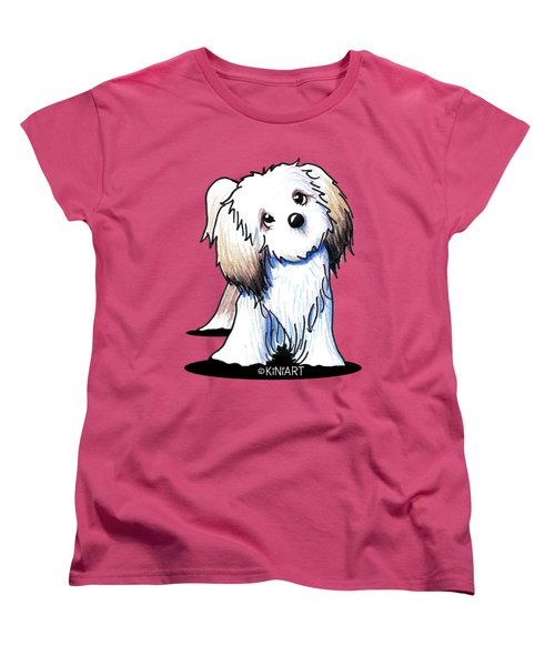 Kiniart Lhasa Apso Women's T-Shirt (Standard Cut)