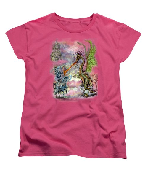Knights N Dragons Women's T-Shirt (Standard Cut) by Kevin Middleton
