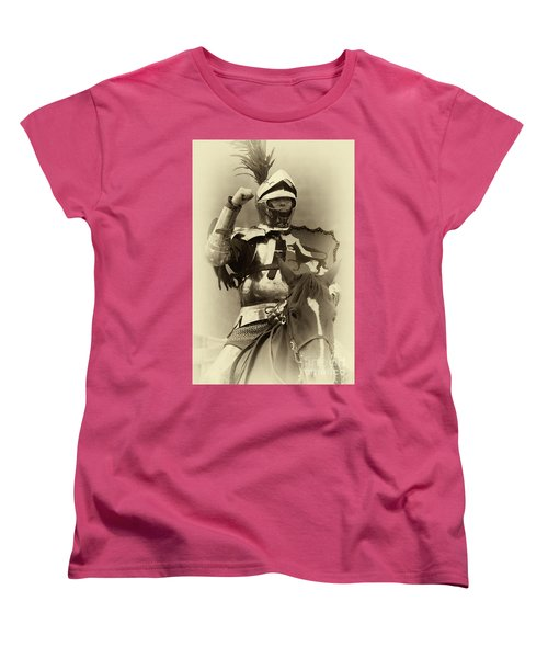Women's T-Shirt (Standard Cut) featuring the photograph Knights Of Old 16 by Bob Christopher