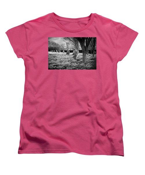 Korean War Memorial Women's T-Shirt (Standard Cut) by Paul Seymour