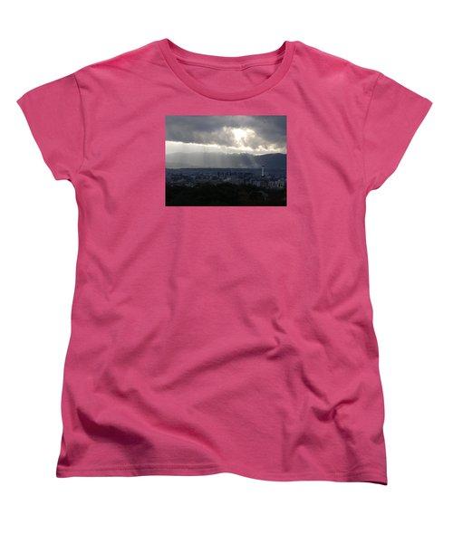 Kyoto Skyline Women's T-Shirt (Standard Cut) by Pete Hall