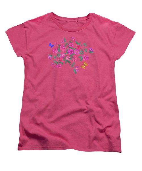 La Vie En Rose Design Women's T-Shirt (Standard Cut) by Teresa Ascone