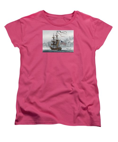 Lady Washington Women's T-Shirt (Standard Cut) by James Williamson