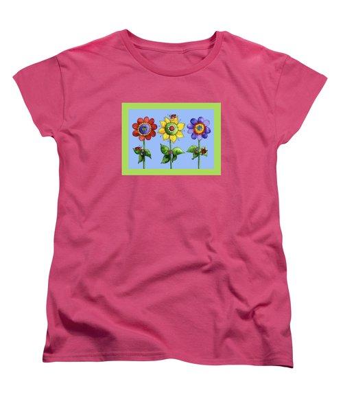 Ladybugs In The Garden Women's T-Shirt (Standard Cut) by Shelley Wallace Ylst