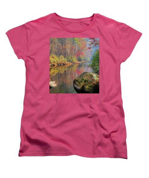Women's T-Shirt (Standard Cut) featuring the painting Chattooga Paradise by Steven Richardson