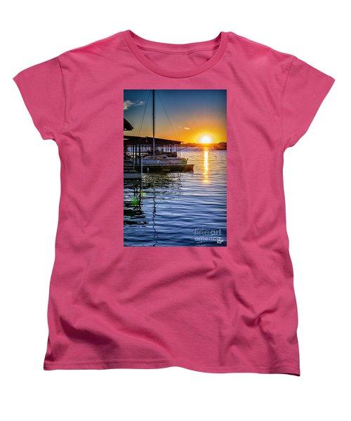 Women's T-Shirt (Standard Cut) featuring the photograph Lake Travis by Walt Foegelle