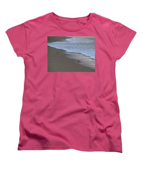 Lamu Island - Crabs Playing At Sunset 4 Women's T-Shirt (Standard Cut) by Exploramum Exploramum