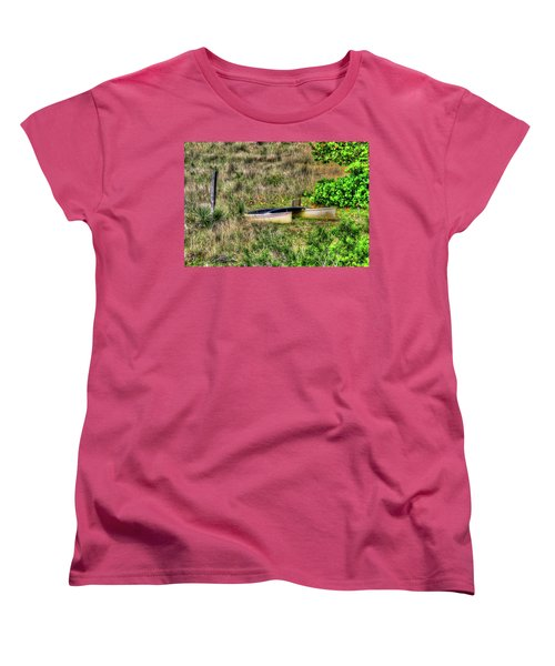 Women's T-Shirt (Standard Cut) featuring the photograph Land Locked by Tom Prendergast