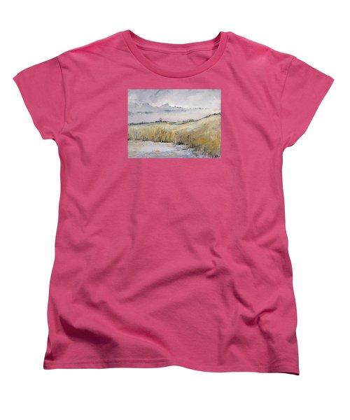 Landscape In Gray Women's T-Shirt (Standard Cut) by Carolyn Doe