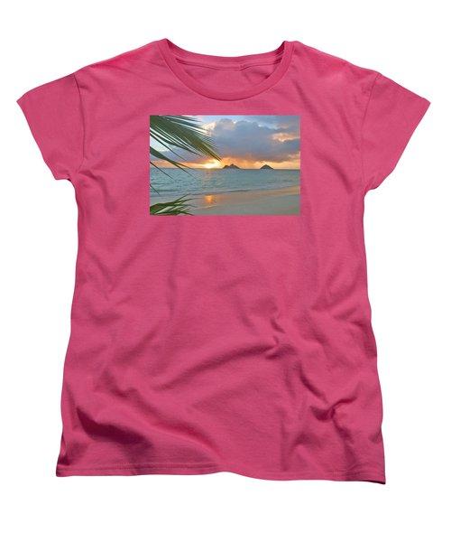 Lanikai Sunrise Women's T-Shirt (Standard Cut) by Tomas del Amo - Printscapes