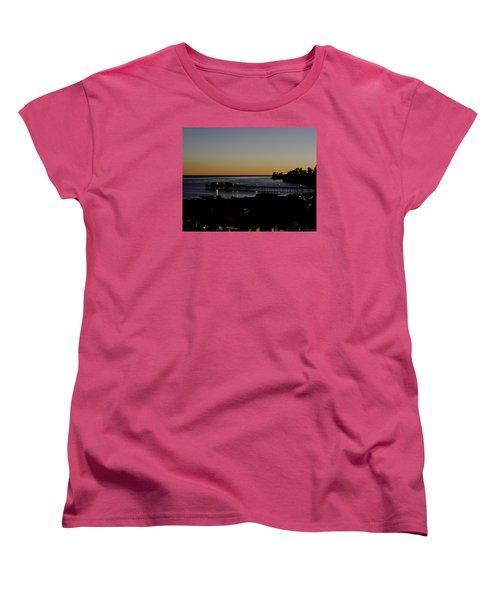 Women's T-Shirt (Standard Cut) featuring the photograph Last 2015 Sunset by Lora Lee Chapman