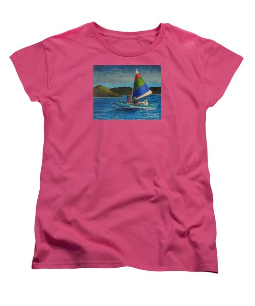 Last Sail Before The Storm Women's T-Shirt (Standard Cut) by Laurie Morgan