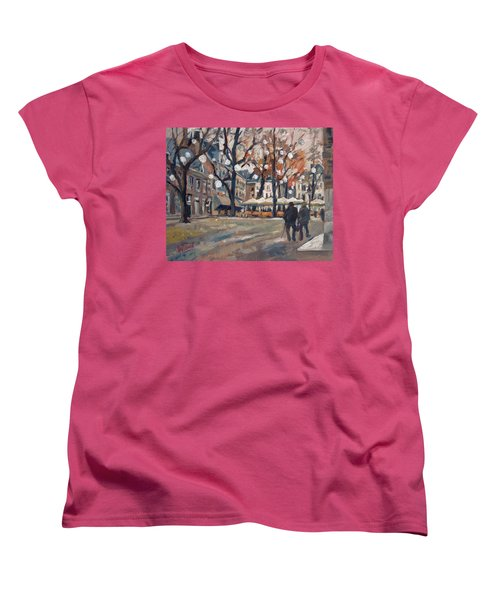 Late November At The Our Lady Square Maastricht Women's T-Shirt (Standard Cut) by Nop Briex