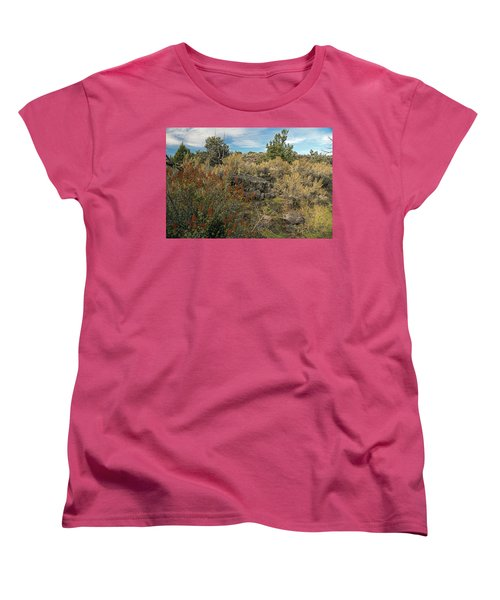 Lava Formations Women's T-Shirt (Standard Cut) by Cindy Murphy - NightVisions