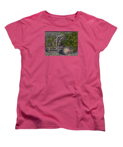 Lavender And Lobster Women's T-Shirt (Standard Cut) by Jane Thorpe