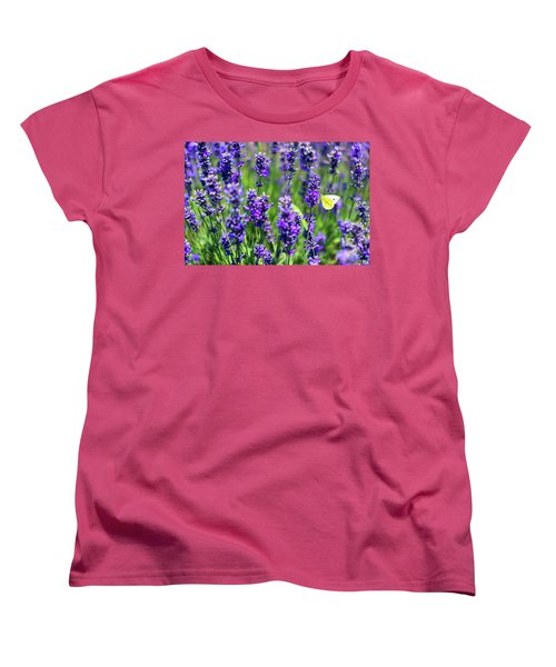 Women's T-Shirt (Standard Cut) featuring the photograph Lavender And The Heart by Ryan Manuel