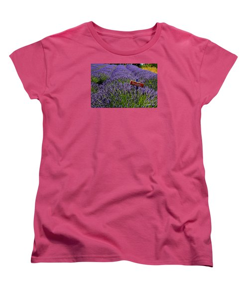 Women's T-Shirt (Standard Cut) featuring the photograph Lavender Bounty 2 by Tanya  Searcy