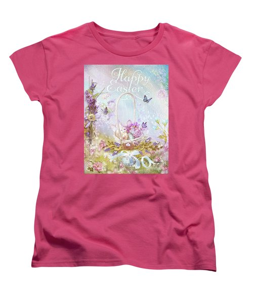 Women's T-Shirt (Standard Cut) featuring the mixed media Lavender Easter by Mo T