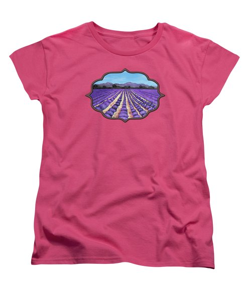 Lavender Field In Provence Women's T-Shirt (Standard Cut)