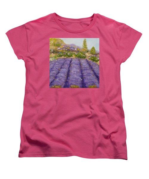 Lavender Field Women's T-Shirt (Standard Cut) by Judith Rhue