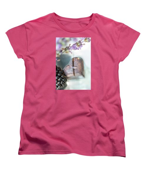 Women's T-Shirt (Standard Cut) featuring the photograph Lavender Heart by Sabine Edrissi