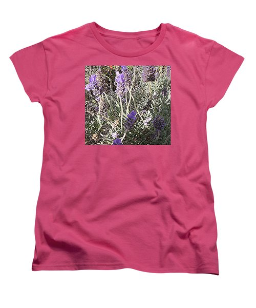 Lavender Moment Women's T-Shirt (Standard Cut) by Winsome Gunning
