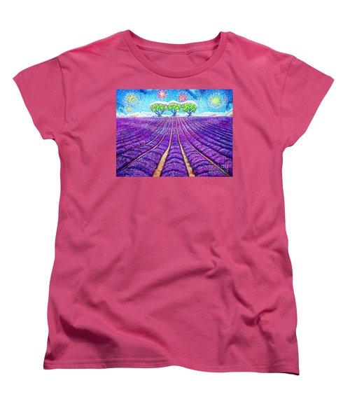 Lavender Women's T-Shirt (Standard Cut) by Viktor Lazarev