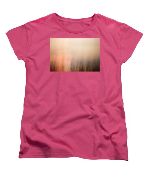 Women's T-Shirt (Standard Cut) featuring the photograph Laying Low At Sunrise by Marilyn Hunt