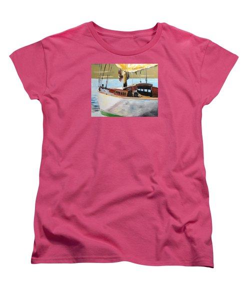 Lazy Sloop Women's T-Shirt (Standard Cut) by Stan Tenney