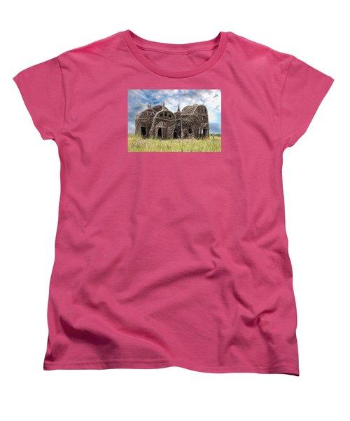 Lean On Me - Stick House Series 1/3 Women's T-Shirt (Standard Cut) by Patti Deters