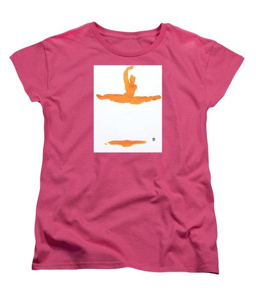 Leap Brush Orange 1 Women's T-Shirt (Standard Cut) by Shungaboy X