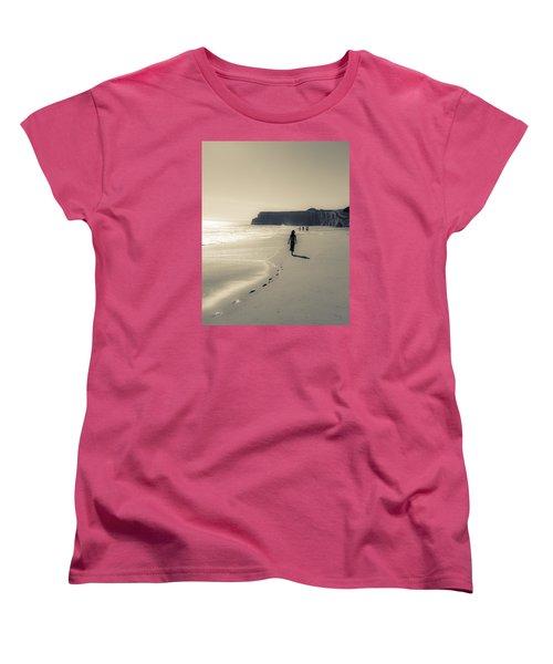 Leave Nothing But Footprints Women's T-Shirt (Standard Cut) by Alex Lapidus