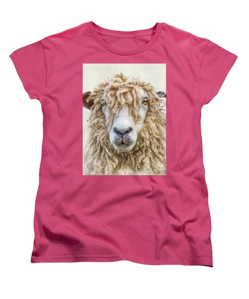 Leicester Longwool Sheep Women's T-Shirt (Standard Cut) by Linsey Williams