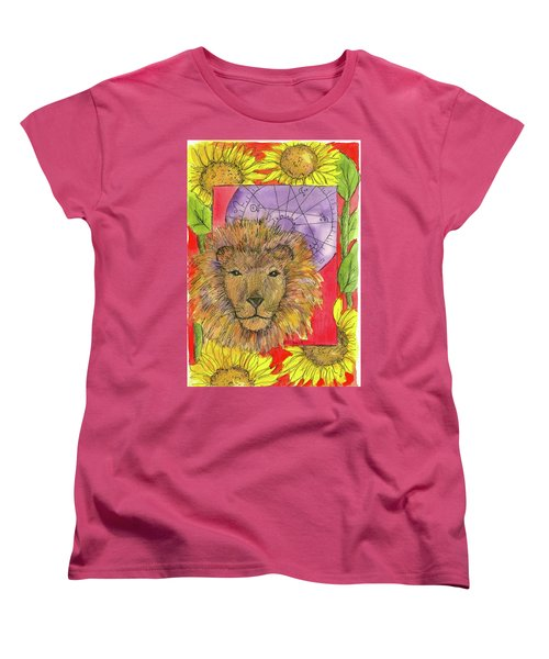 Women's T-Shirt (Standard Cut) featuring the painting Leo by Cathie Richardson