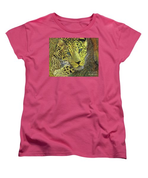 Leopard Gaze Women's T-Shirt (Standard Cut) by David Joyner