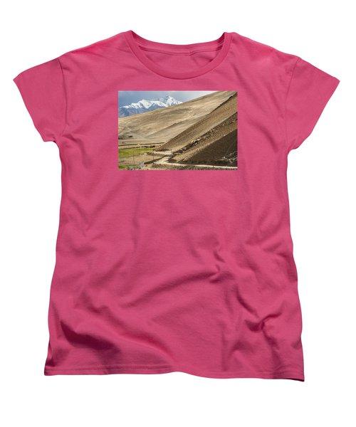 Less Traveled Women's T-Shirt (Standard Cut) by Hitendra SINKAR