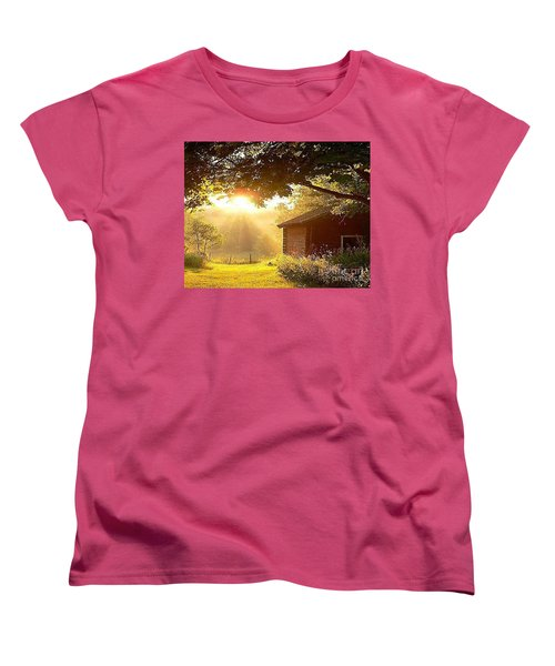 Let There Be Light Women's T-Shirt (Standard Cut) by Rod Jellison