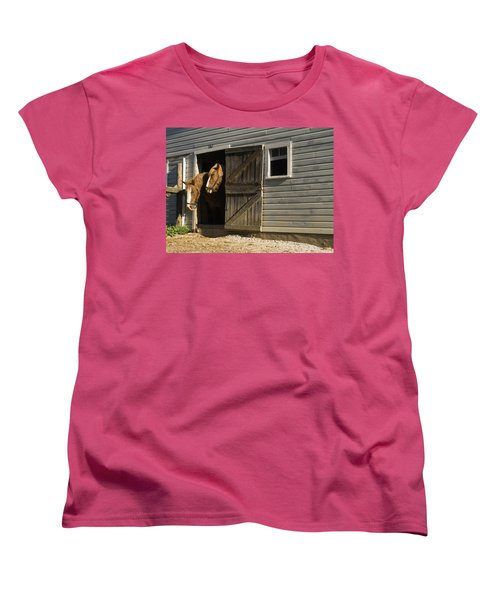 Women's T-Shirt (Standard Cut) featuring the photograph Let's Go Out by Sally Weigand
