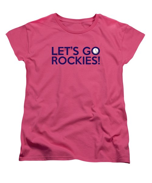 Let's Go Rockies Women's T-Shirt (Standard Cut) by Florian Rodarte