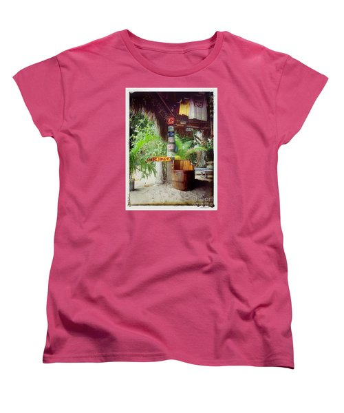 Women's T-Shirt (Standard Cut) featuring the photograph License To Drink by Linda Olsen