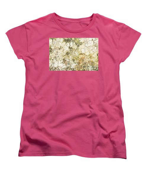 Women's T-Shirt (Standard Cut) featuring the photograph Lichen On A Stone, Background by Torbjorn Swenelius