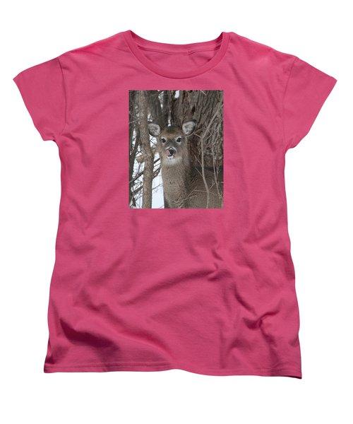 Women's T-Shirt (Standard Cut) featuring the photograph Licking Her Lips by Doris Potter