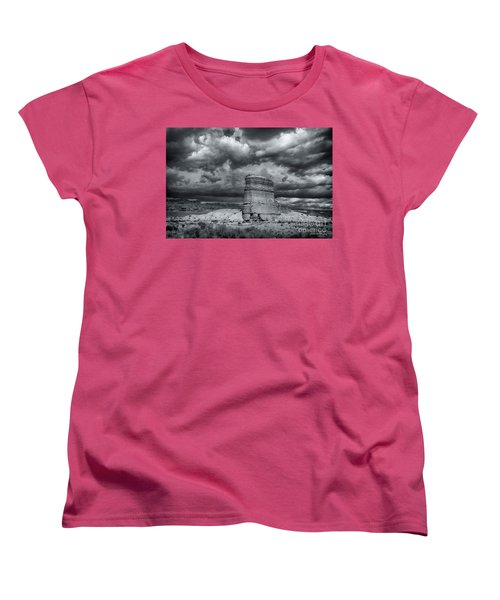 Women's T-Shirt (Standard Cut) featuring the photograph Light On The Rock by John A Rodriguez